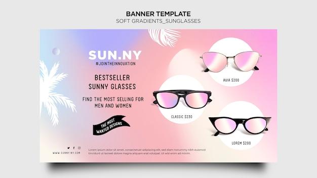 Modèle de boutique de lunettes de soleil bannière