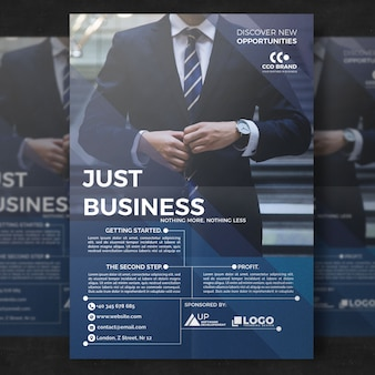 Modèle de brochure d'affaires élégant