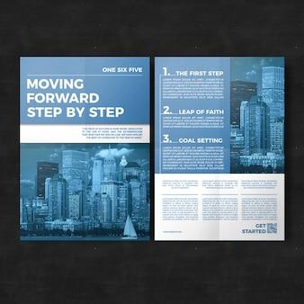 Modèle de brochure d'affaires géométrique