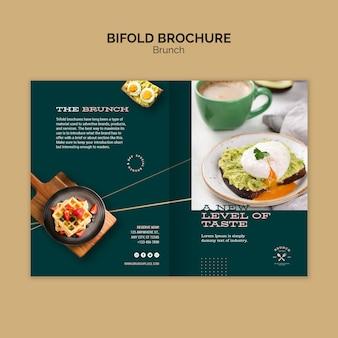 Modèle de brochure avec brunch