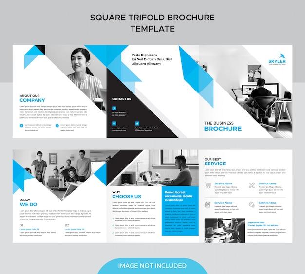 Modèle de brochure de carré à trois volets