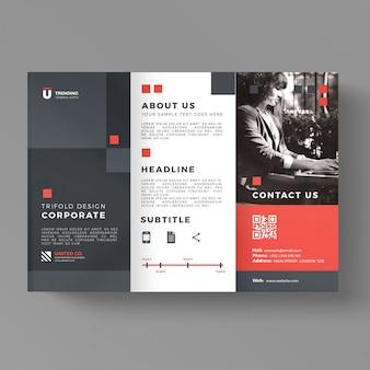 Modèle de brochure commerciale à trois volets