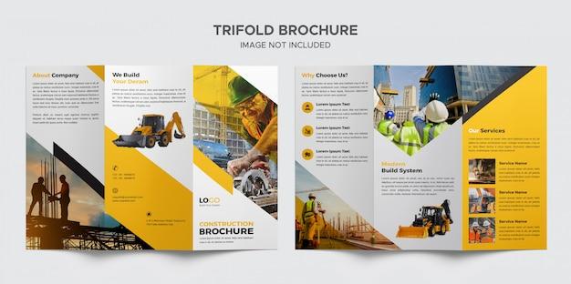 Modèle de brochure de construction à trois volets