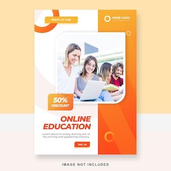 Modèle de brochure d'éducation en ligne