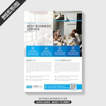 Modèle de brochure d'entreprise bleu