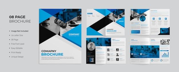 Modèle de brochure de entreprise de pages