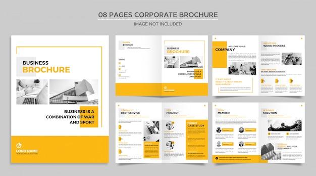 Modèle de brochure de pages d'entreprise