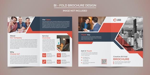 Modèle de brochure de pliage d'entreprise