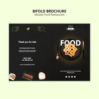 Modèle de brochure pliante de nourriture moody