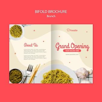 Modèle de brochure pliante pour restaurant