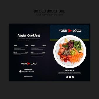 Modèle de brochure pliante de restaurant de nourriture moody