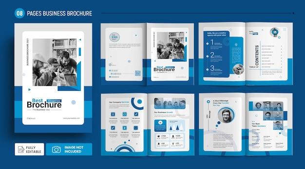 Modèle de brochure de profil d'entreprise infographique abstrait psd