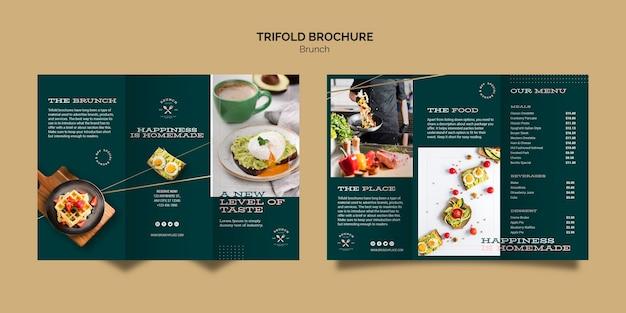 Modèle de brochure avec thème brunch