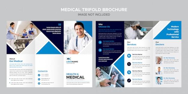 Modèle de brochure à trois volets médical