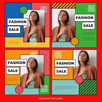 Modèle de bundle de post instagram pour les achats en ligne de mode