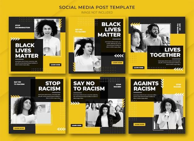 Modèle de bundle de publication instagram black lives matter