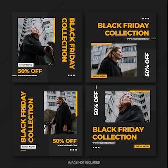 Modèle de bundle de publication instagram de la campagne black friday
