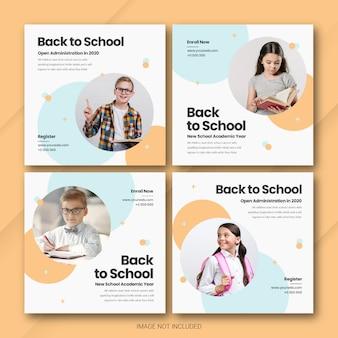 Modèle de bundle de retour à l'école instagram