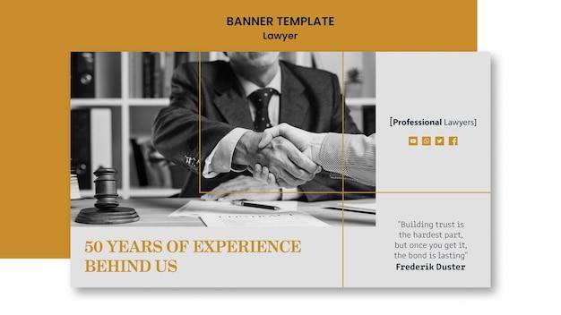 Modèle de cabinet d'avocats de bannière