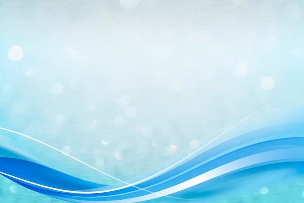 Modèle de cadre de courbe bleue sur fond pailleté