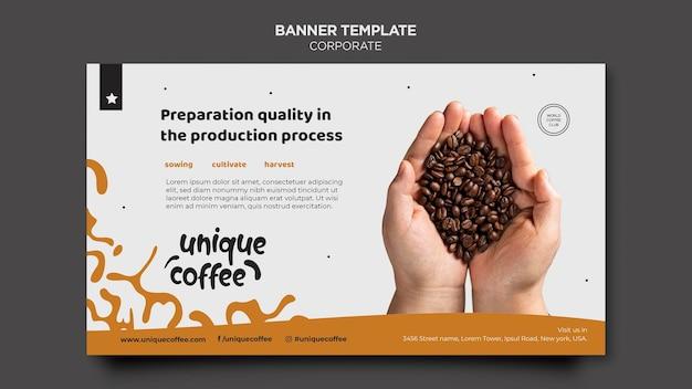 Modèle de café de bannière