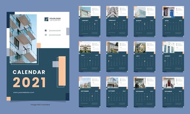 Modèle de calendrier mural immobilier