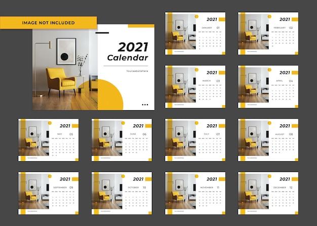 Modèle de calendrier pour l'année 2021