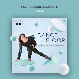 Modèle carré de poteau de danse
