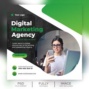 Modèle carré pour publication sur les réseaux sociaux de marketing numérique