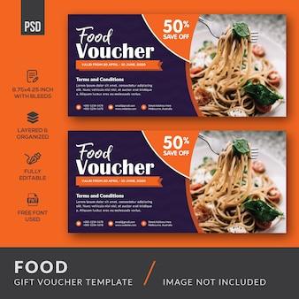 Modèle de carte de bon cadeau alimentaire