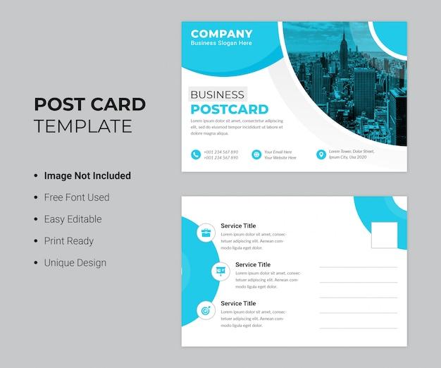 Modèle de carte postale de entreprise