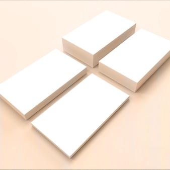 Modèle de carte de visite blanche