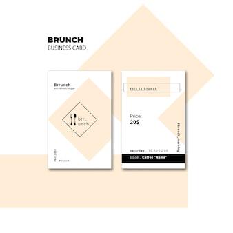 Modèle de carte de visite de brunch