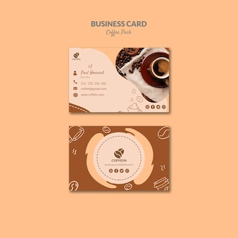 Modèle de carte de visite café ouverture boutique