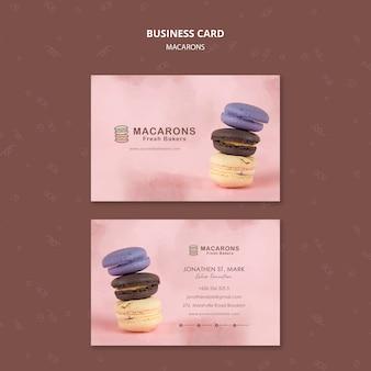 Modèle de carte de visite de concept de macarons
