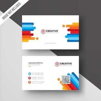 Modèle de carte de visite en couleur