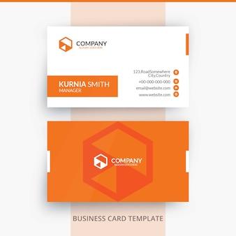 Modèle de carte de visite élégant d'identité de marque lumineuse