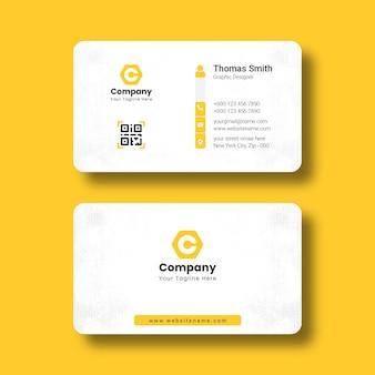 Modèle de carte de visite d'entreprise professionnelle