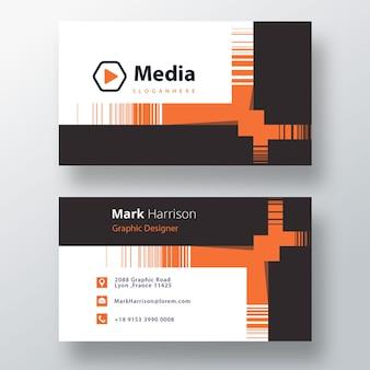 Modèle de carte de visite d'entreprise psd