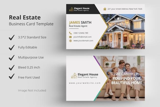 Modèle de carte de visite de immobilier