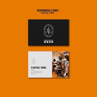 Modèle de carte de visite de machines à café