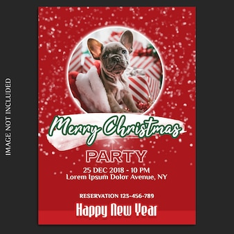 Modèle de carte de visite et maquette de flyer et joyeux noël et bonne année 2019