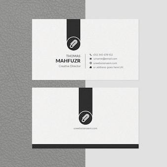 Modèle de carte de visite minimale blanc et noir