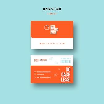 Modèle de carte de visite de portefeuille électronique