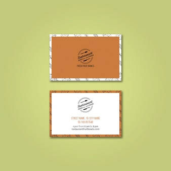 Modèle de carte de visite pour restaurant