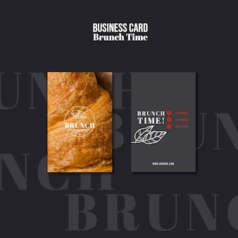 Modèle de carte de visite de temps de brunch