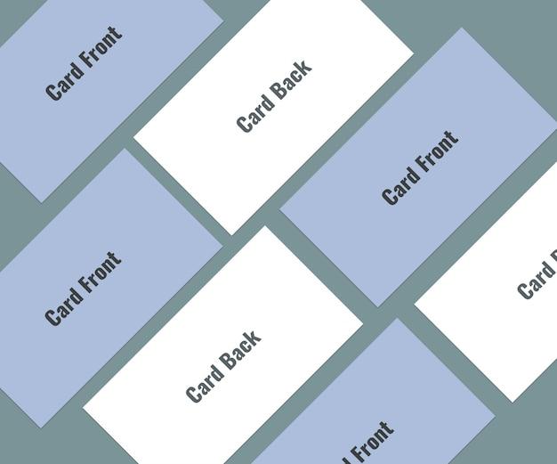 Modèle de carte de visite vue de dessus