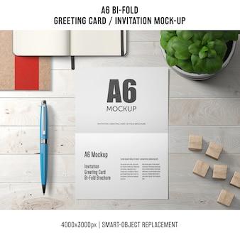 Modèle de carte de voeux bi-fold professionnel a6