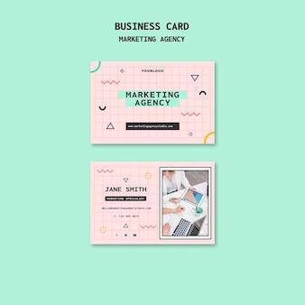 Modèle de cartes de visite d'agence de marketing sur les réseaux sociaux
