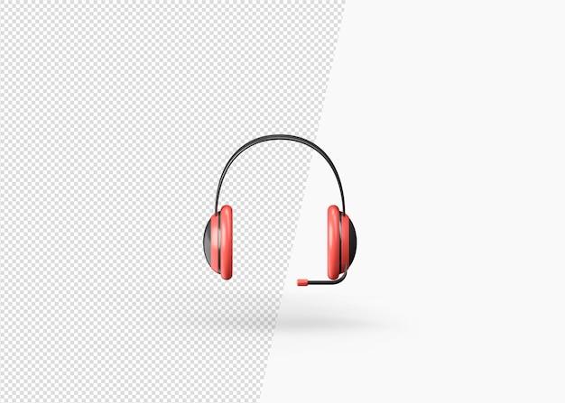 Modèle de casque réaliste moderne de rendu 3d